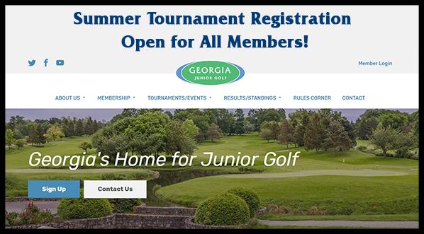 Registration Open for Georgia Junior Golf Summer Tournaments!